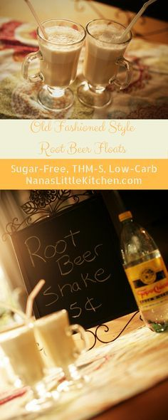 A Sugar Free Root Beer Shake that tastes like an old fashioned root beer float!