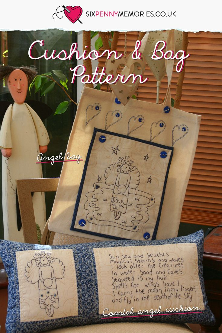A simply pieced and stitched cushion