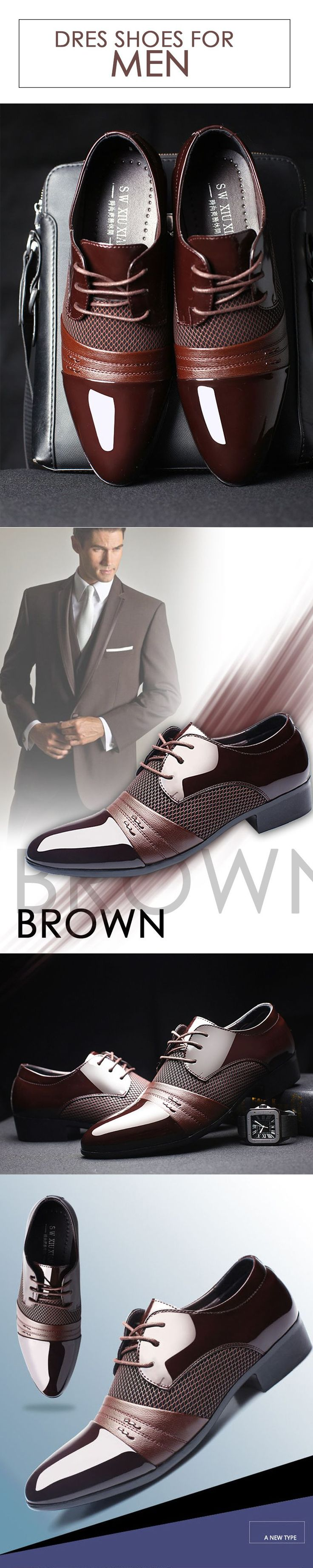Men's Brown Oxford classic leather shoes --- Men's top brand fashion style business casual affordable attire apparel #oxfordshoes #classicshoes #menshoes #menstyle