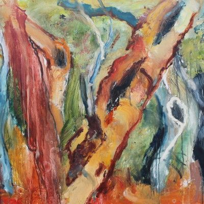 Denis Clarke Scared Tree 100x122cm Oil on Linen  www.stanleystreetgallery.com.au
