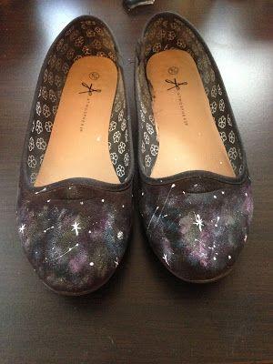 My.Life.Ink: DIY - Galaxy Schuhe
