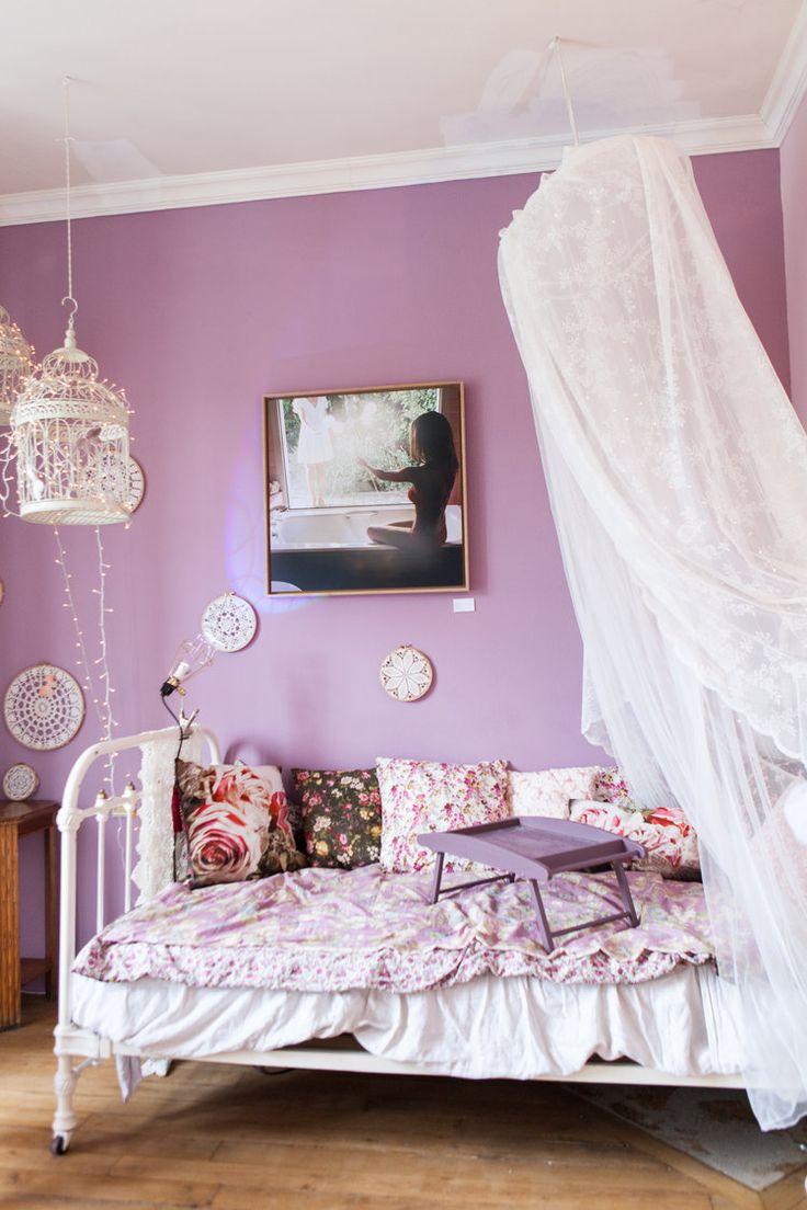 1000 idées sur le thème chambre avec touche de violet sur ...