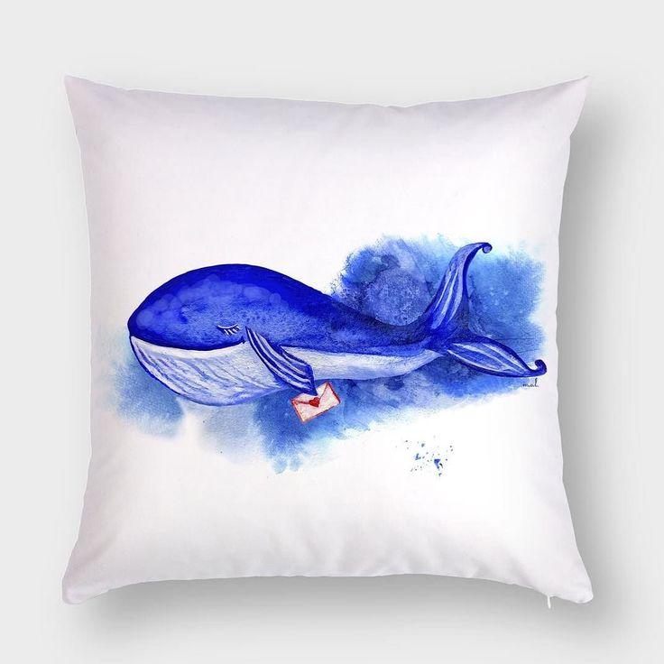 Декоративная интерьерная и по-настоящему волшебная подушка с черничным китом и посланием На Hipoco.com его можно поймать по слову кит Не переставайте мечтать. #hipoco #hipocoanimals #hipocopillow #art#whale#pillow#aquarelle#watercolor#watercolour#pillows#whales#indigo#sea#illustration#иллюстрация#море#акварель#подушка#подушки#скетч#кит#киты#рисунок#ткань#ткани#синий#морской#рисую#рисование hipoco.com