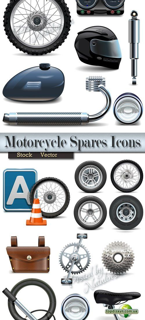 Иконки в Векторе – Запчасти на мотоцикл, колеса, дорожный знак