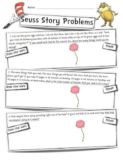 Mrs. Heeren's Happenings: My First Post: Seuss Story Problems
