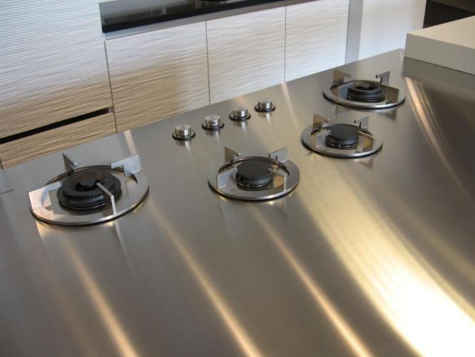 i-Cooking ICG0402 gaskookplaat in 4mm RVS werkblad