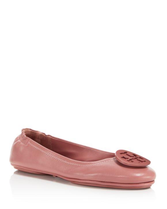 909b85636aca Tory Burch Women s Minnie Leather Travel Ballet Flats