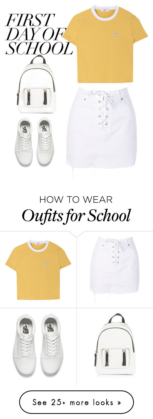 """school"" by ecem1 on Polyvore featuring New Look, Topshop and Vans"