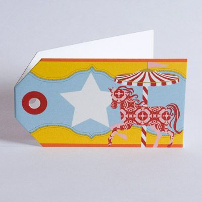 Carousel Pony Gift Tag www.motherbabystore.com.au