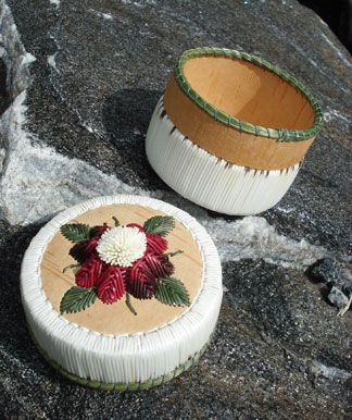 Porcupine Quill Basket by Lorraine Besito - Pink Tuft