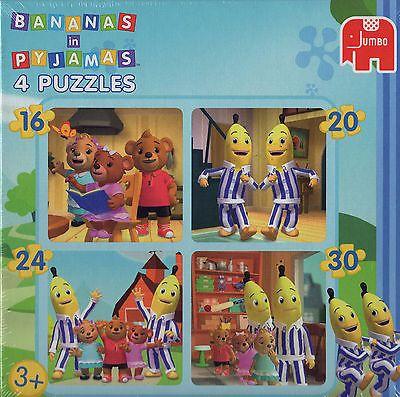 NEW! Jumbo Bananas in Pyjamas 4 Puzzles in a Box 16, 20, 24 & 30 piece jigsaw