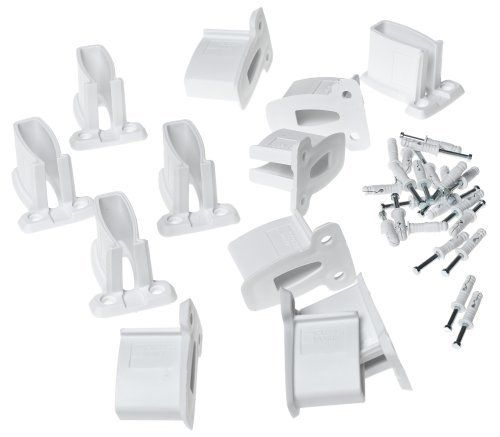 12 Pack Of Bracket Supports And Anchors For ClosetMaid Wire Shelves.  Supports The Ends Of Wire Shelves Where They Butt Against Side Walls.