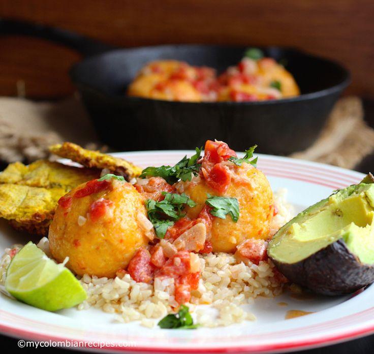"""Albóndigas de Pescado (Fish """"Meat Balls"""" in Coconut Sauce) mycolombianrecipes.com"""