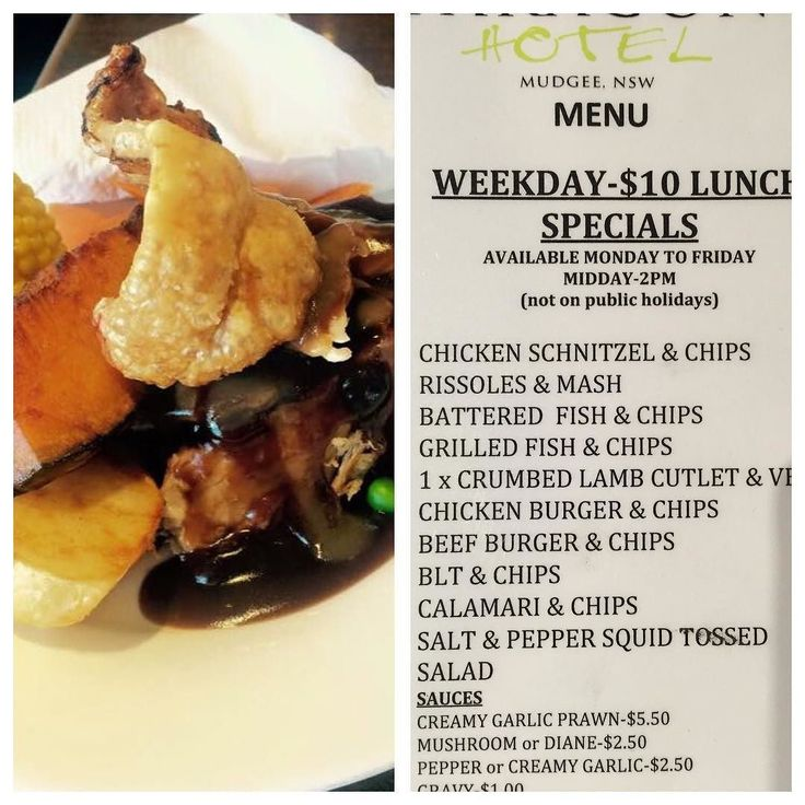 Friday Lunch Special- Roast Pork & Veg-$12. You could also try one of our $10 weekday lunches. Don't miss the joker draw tonight-$2600 and Happy hour from 4.30pm to 6.30pm $4 schooners.