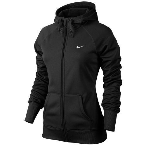 Nike All Time FZ Hoodie - Women's - Training - Clothing - Black/White