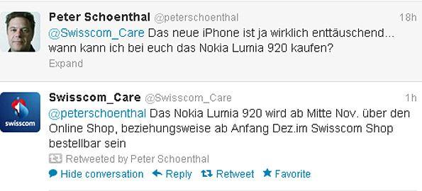 Swisscom venderá el Nokia Lumia 920 en noviembre http://www.aplicacionesnokia.es/swisscom-vendera-el-nokia-lumia-920-en-noviembre/