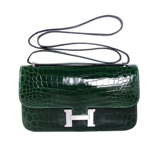 Hermes 6L Vert Bengale Emerald Constance 26 Shiny Niloticus Crocodile For  sale at http   cab5905a58469