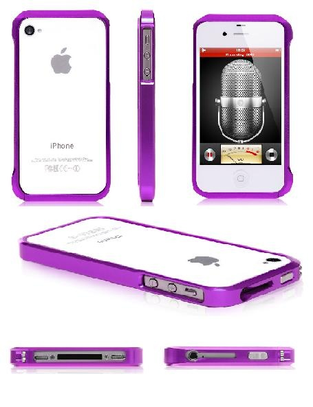 Purple Bumper iPhone 4 Cases www.cellz.com $4.99 #iphone4 #50%discount #cases #promotional #cheap #price #clearance #sale #free #shipping #best #iphone #cases