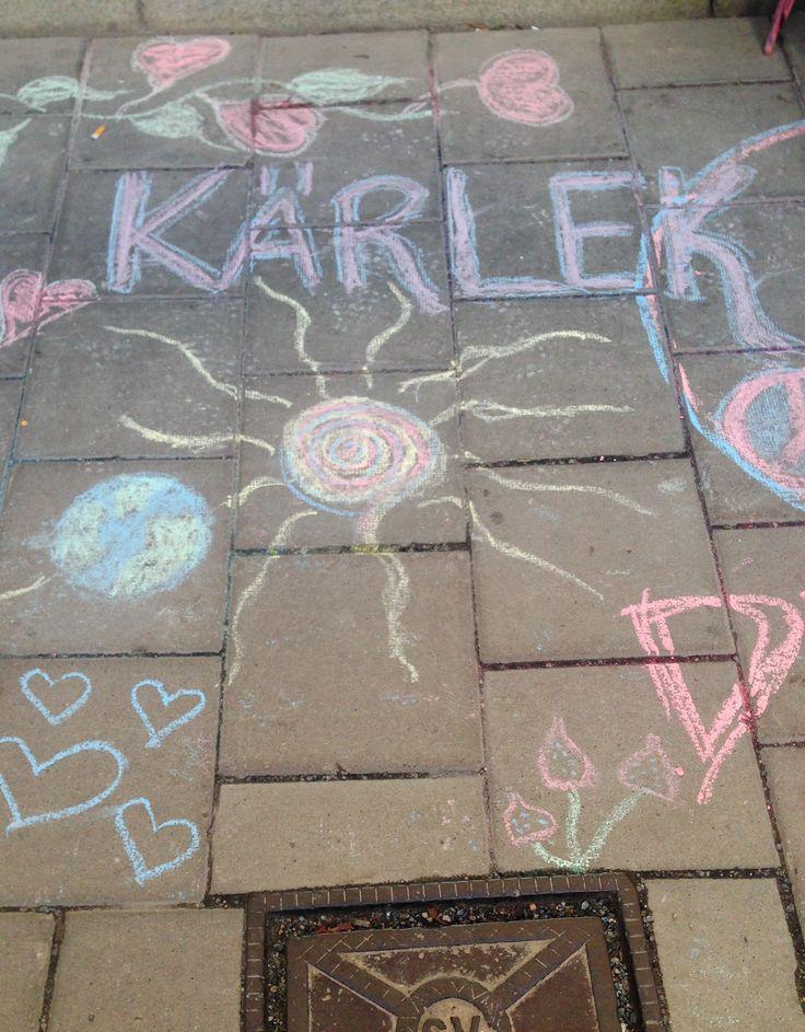 Pavement in Södermalm. Kärlek = love #stockholm #travel #tips #sightseeing #tourist #sweden