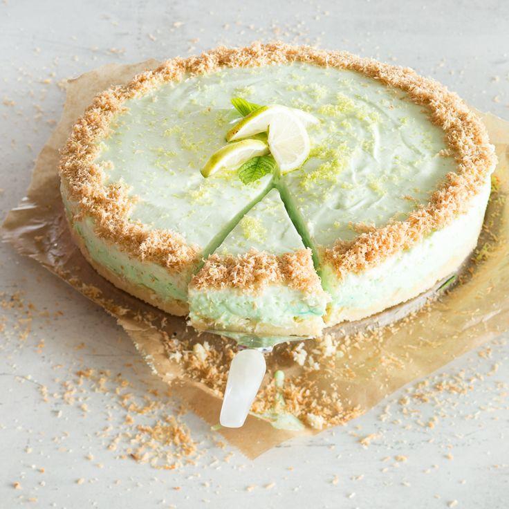 Low-Carb Limetten-Kokos-Käsekuchen