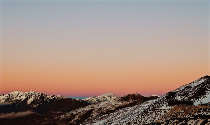 Sunrise from Coronet Peak, Queenstown, New Zealand