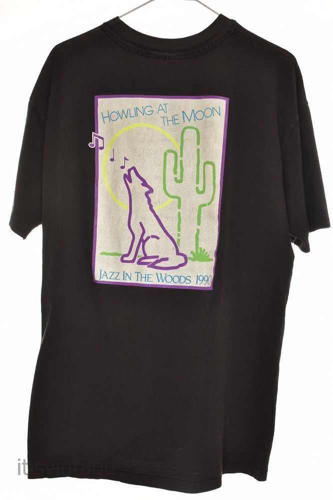 Vintage '90 Hanes Beefy T Wolf Howling at Moon Jazz in Woods T Shirt XL Made USA | Clothing, Shoes & Accessories, Men's Clothing, T-Shirts | eBay!