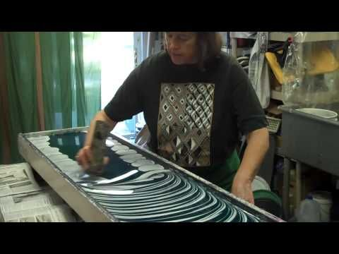 Marbeling paper: Artist Mimi Schleicher, Weaverville, NC