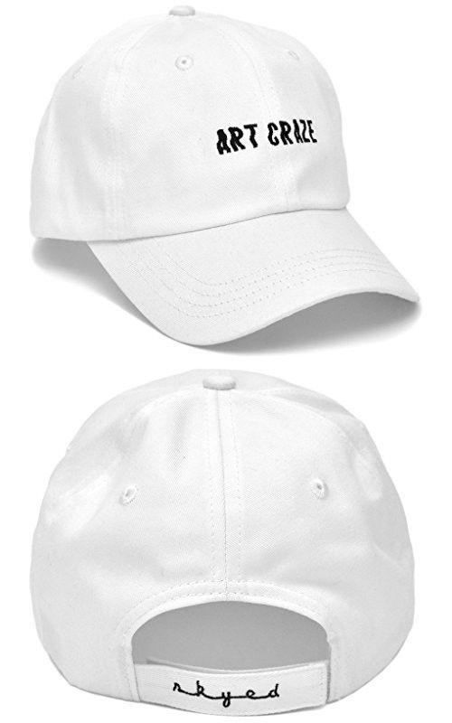 00fcfa8adb805 ART CRAZE Dad Hat Baseball Cap Adjustable Baseball Hat Cotton Embroidery  from Skyed Apparel (White)