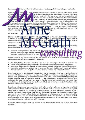 Admin - Demonstrated ability to offer a client focussed service with i – Professional Resumes @ Anne McGrath Consulting