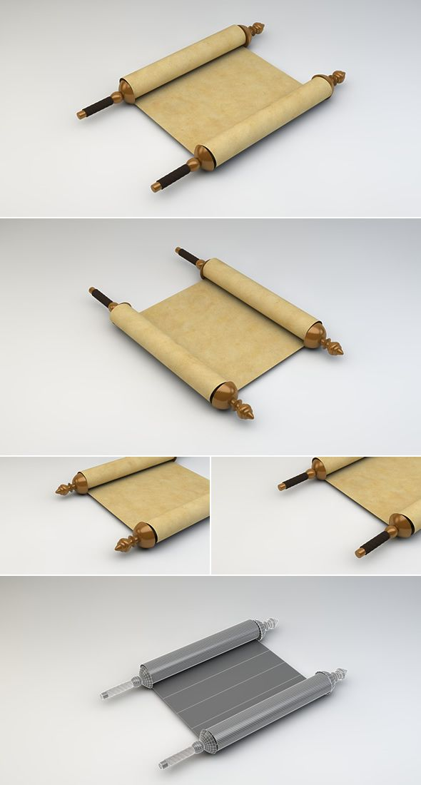 3d Scroll Of Parchment Photo: Ancient Scroll 3D Model