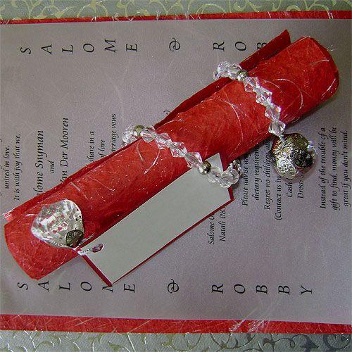 Ref A5 Fancy scroll elite ( we can do any colour) www.weddingcards.co.za
