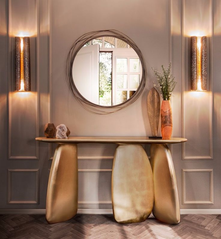 ARDARA Console Table | Furniture Design. Entrance Hall. #console #designfurniture #interiordesign Find more: https://www.brabbu.com/product/casegoods/ardara-console