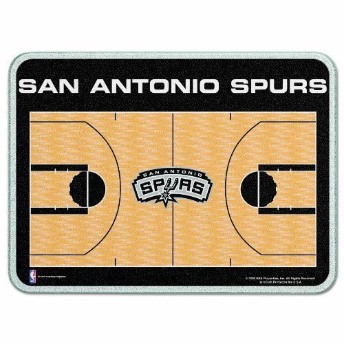 """NBA San Antonio Spurs Cutting Board by WinCraft. $22.99. Approximately 11""""x15"""" in size. Tempered glass with four plastic rubber legs.. Decorated with dynamic team graphics.. Made in the USA. Great for tailgating. 1/4"""" thick tempered glass cutting board has a durable water resistant teslin graphic laminated to the back with four plastic rubber legs.  While it is dishwasher safe on the top rack , we recommend hand washing for long life. Made in the USA."""