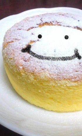 簡単☆材料3つスフレチーズケーキ