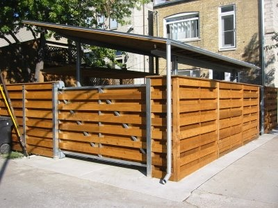 30 best garages and carports images on pinterest carport for Carport fence ideas