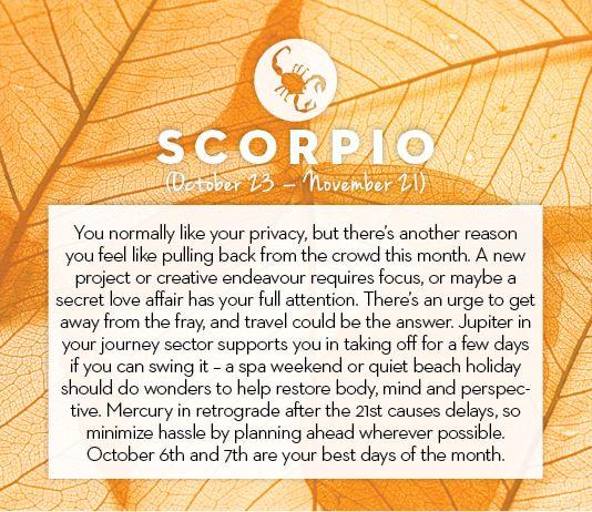 #Scorpio October #horoscope 2013