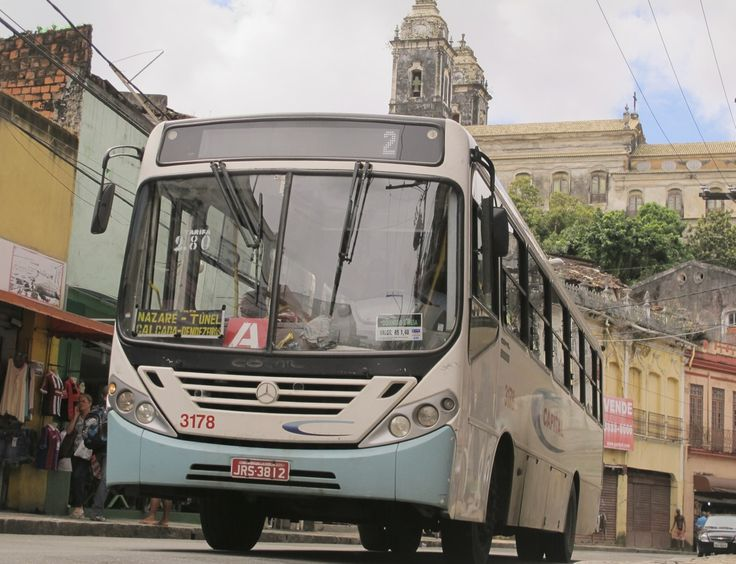 Baixa dos Sapateiros. It's hard to take a photograph in Brazil without a bus driving right into it.