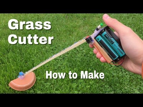 How to Make a Grass Cutter Machine - Powerful Mini Grass Cutter DIY - Easy to Build - YouTube