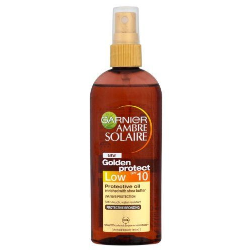 Garnier Ambre Solaire SPF10 Oil Golden Protect 150ml has been published at http://www.discounted-skincare-products.com/garnier-ambre-solaire-spf10-oil-golden-protect-150ml/
