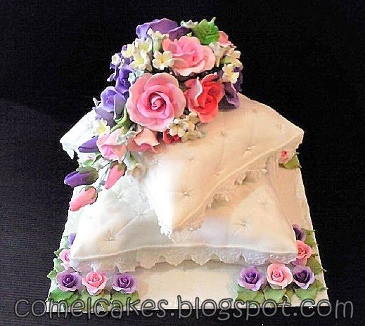 Pillow Wedding Cakes | Comel's Cakes & Cupcakes Johor Bahru: 2 tiers Pillow Wedding Cake pink ...
