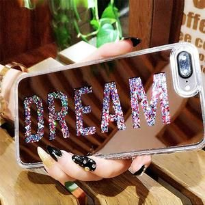 Glitter Quicksand Dream Letter Mirror Bling Phone Cases for iPhone 6 6 $ 5.99 | LadyGarden
