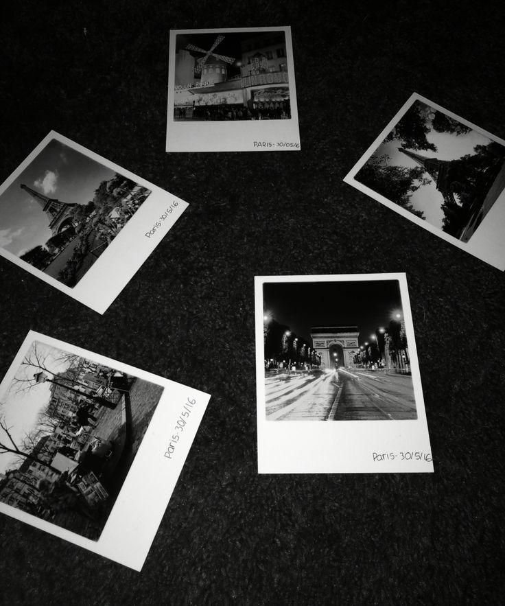paris polaroids b&w | Wallpapers | Black, white aesthetic ...