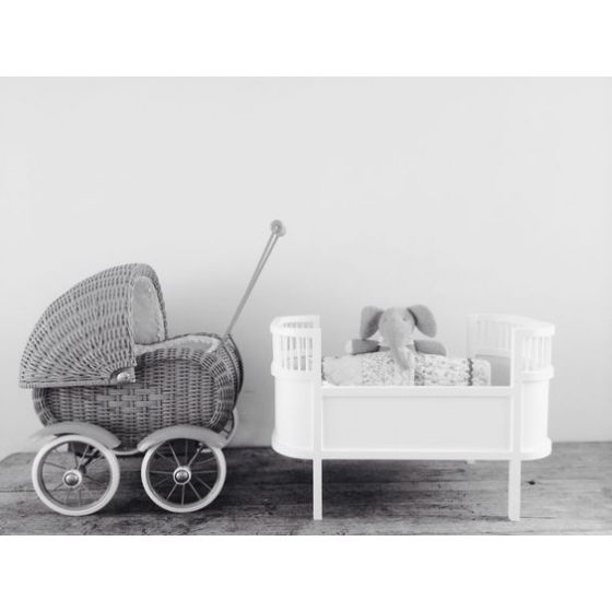 Our beautiful grey #wickerdollspram the perfect #ChristmasGift for children from cottage-toys.co;uk