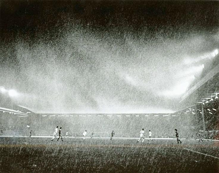 Famous Steve Hale pic, 'Storm over Anfield' - v Benfica, October 1984