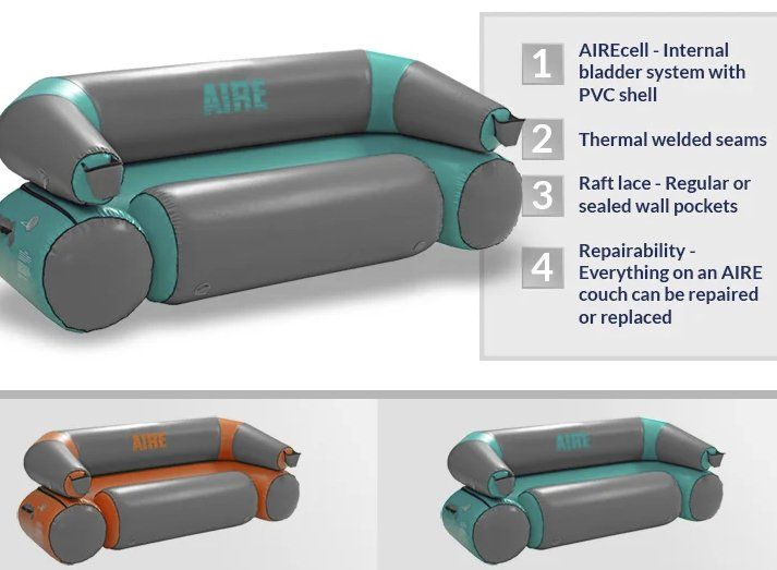 Inflatable River Couch From Aire Valued At 549 00 Prize Includes Carrying Handles Cup Holders And New Colors For River Trip Amazon Gift Cards Amazon Gifts