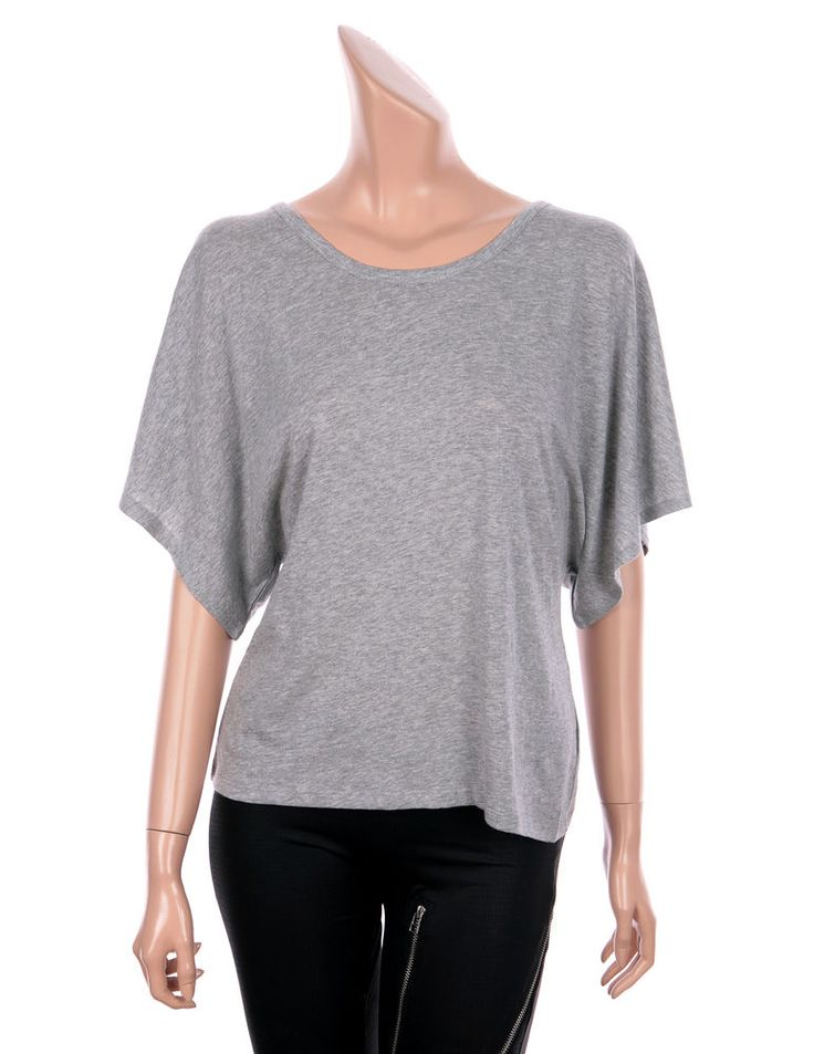 VICTORIA SECRET U-Back Beach Cover Up Tops Tees Sexy Openback T-shirts Gray XS #VictoriasSecret #OPENBACKTEE