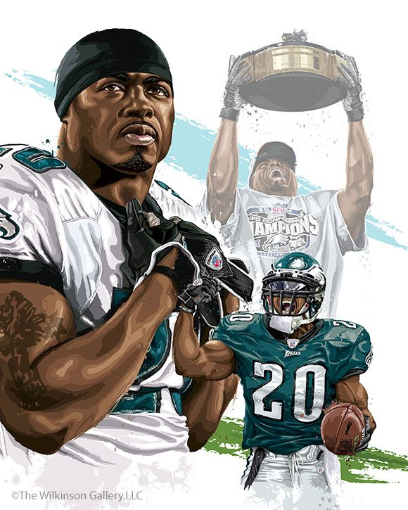 Philadelphia Eagles' Brian Dawkins by David E. Wilkinson