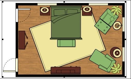 Bed Placement Rug Size And Beds On Pinterest