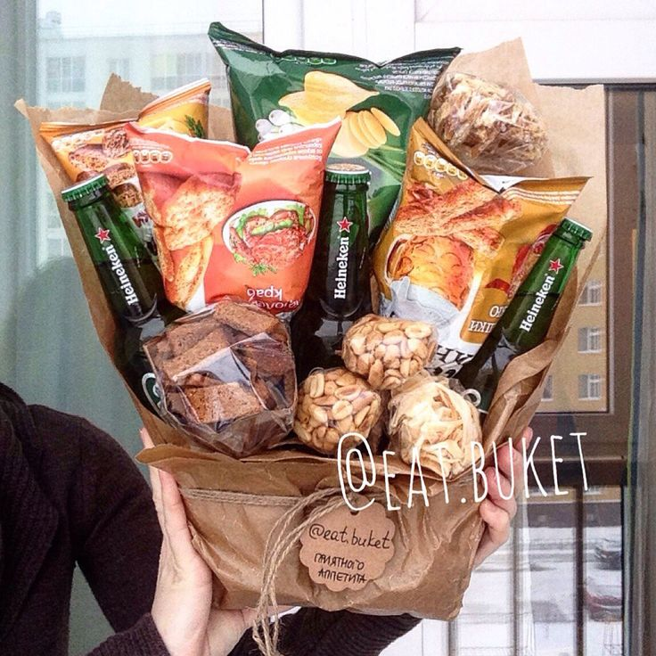 Chips, snacks, & pop. A great hostess gift to give for a night for Netflix binging with a friend.