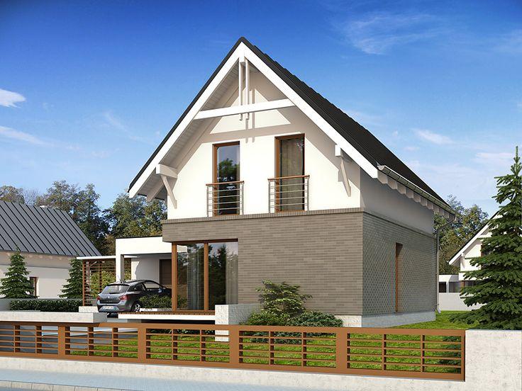 Projekt Teo 4 (86,7 m2) to nieduży dom z użytkowym poddaszem. Pełna prezentacja projektu znajduje się na stronie: https://www.domywstylu.pl/projekt-domu-teo_4.php. #teo #projekty #projekt #gotowe #typowe #domy #domywstylu #mtmstyl #home #houses #architektura #interiors #insides #wnętrza #aranżacje